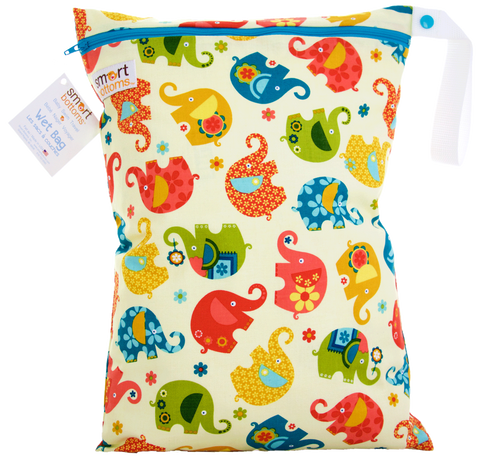 Smart Bottoms On the Go Wet Bags - Elephant Romp