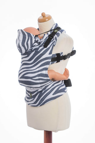 OceanoKidz.com - LennyLamb Ergonomic Carrier - Zebra Graphite & White (Jacquard Weave 100% Cotton)