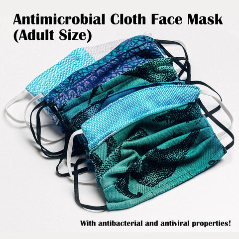 OceanoKidz.com - LennyLamb Antimicrobial Cloth Face Mask (Adult Size, single pack)