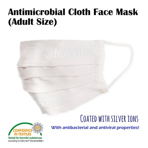 LennyLamb Antimicrobial Cloth Face Mask - 3 Layers - Cotton (Adult Size, single pack)