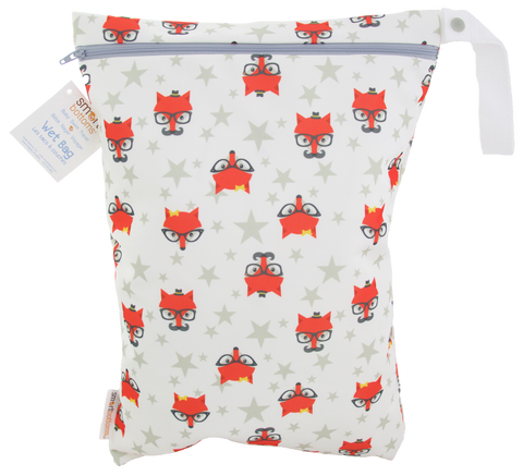 OceanoKidz.com - Smart Bottoms On the Go Wet Bags - Fantastic Hipster Fox