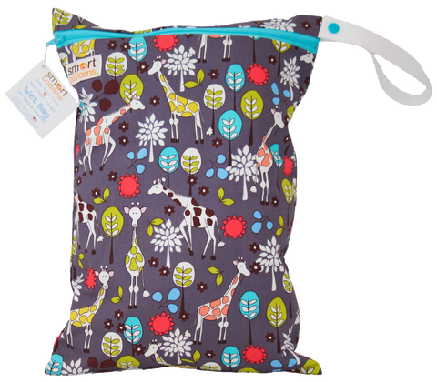 OceanoKidz.com - Smart Bottoms On the Go Wet Bags - Giraffe Garden