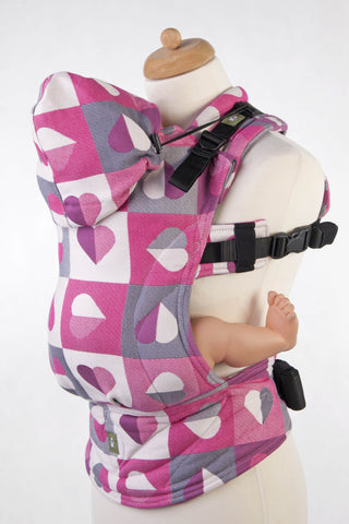 LennyLamb Ergonomic Carrier - Heartbeat - Abigail (Jacquard Weave 100% Cotton)