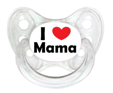 Dentistar Tooth-friendly Pacifier (0-6 months) size 1 with protective cap - I love Mama *Special Edition*