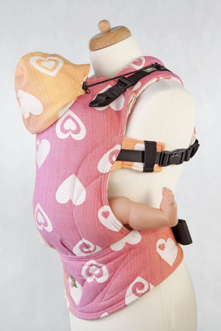 OceanoKidz.com - LennyLamb Ergonomic Carrier - Joyful Sweetheart (Jacquard Weave 100% Cotton) [Baby Size]