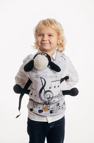 LennyLamb Doll Carrier - Symphony Classic (100% Cotton)