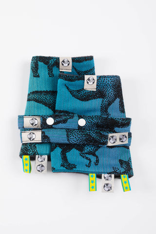 LennyLamb Drool Pads & Reach Straps Set - Jurassic Park (60% Cotton, 40% Polyester)