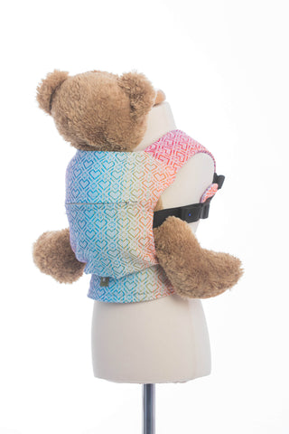 LennyLamb Doll Carrier - Big Love - Rainbow (100% Cotton)