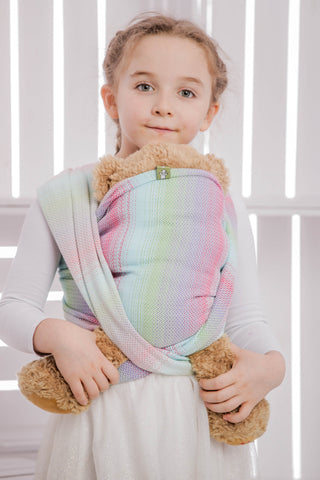 OceanoKidz.com - LennyLamb Doll Sling - Little Herringbone Impression (100% Cotton)