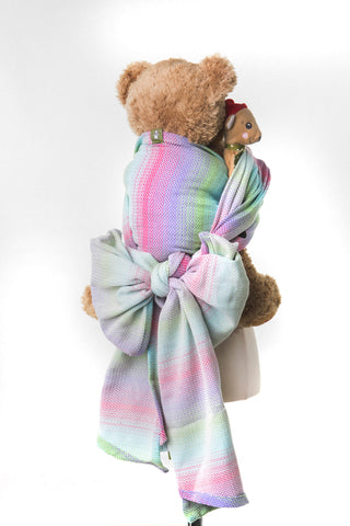 LennyLamb Doll Sling - Little Herringbone Impression (100% Cotton)