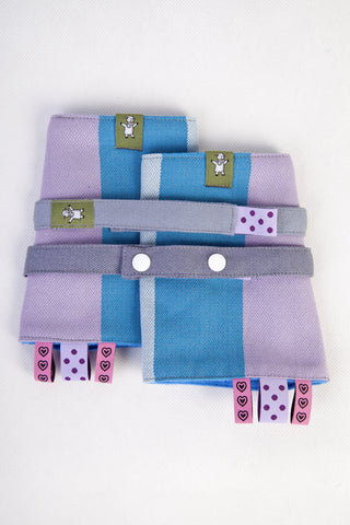 OceanoKidz.com - LennyLamb Drool Pads & Reach Straps Set - Icelandic Diamond (100% Cotton)