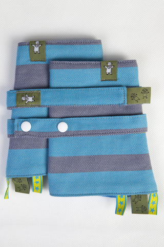OceanoKidz.com - LennyLamb Drool Pads & Reach Straps Set - Misty Morning (60% Cotton, 40% Polyester)