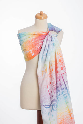 OceanoKidz.com - LennyLamb Ring Sling - Symphony Rainbow Light (Jacquard Weave 100% Cotton)