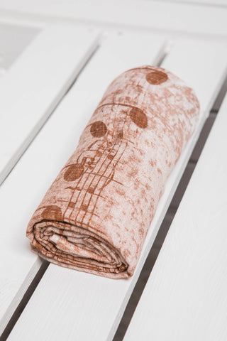 LennyLamb Swaddle Wrap - Symphony Brown & Cream