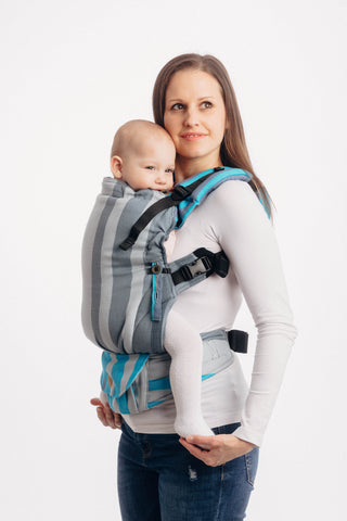 LennyUpGrade Carrier - Misty Morning (Broken-Twill Weave 100% Cotton)