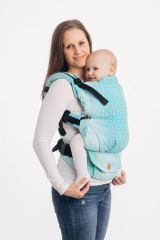 OceanoKidz.com - LennyUpGrade Carrier - Big Love - Ice Mint (Jacquard Weave 100% Cotton)