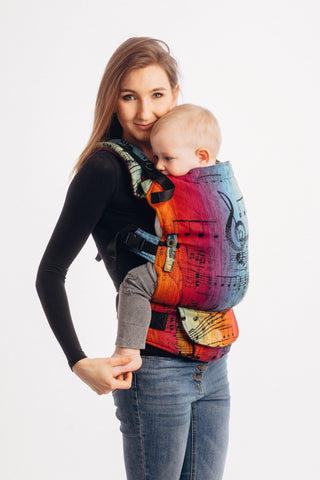 LennyUpGrade Carrier - Symphony Rainbow Dark (Jacquard Weave 100% Cotton)