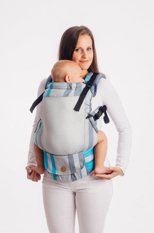 OceanoKidz.com - LennyUpGrade Mesh Carrier - Misty Morning (Broken-Twill Weave 75% Cotton, 25% Polyester)