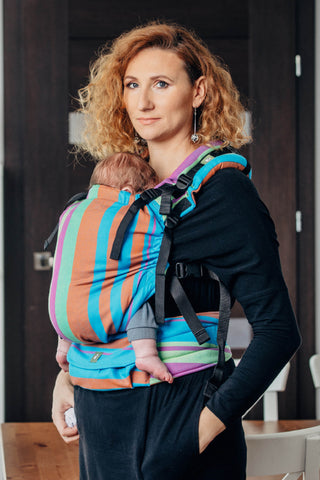 OceanoKidz.com - LennyUp Carrier - Zumba Blue (Broken-Twill Weave 100% Cotton)