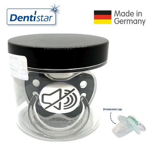 OceanoKidz.com - Dentistar Tooth-friendly Pacifier Silicone (0-6 months) size 1 with protective cap - No Sound *Special Edition*