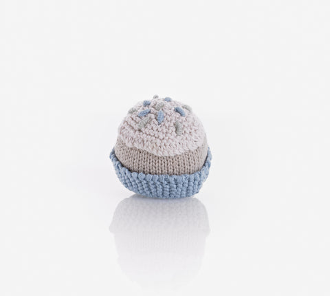 Pebble Cupcake Rattle Organic - Blue