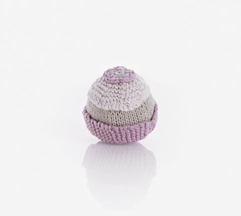 Pebble Cupcake Rattle Organic - Pink