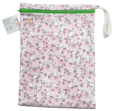 Smart Bottoms On the Go Wet Bags - Pink Piglets