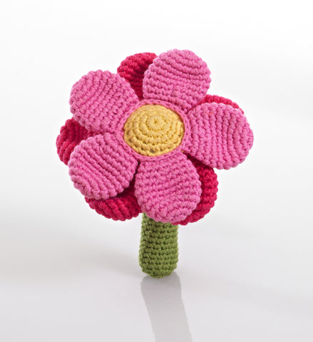 OceanoKidz.com - Pebble Flower Rattle - Pink