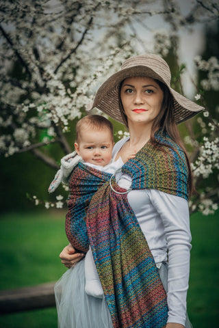 LennyLamb Ring Sling - Little Love - Delight (Jacquard Weave 60% Combed Cotton, 28% Merino Wool, 8% Silk, 4% Cashmere)