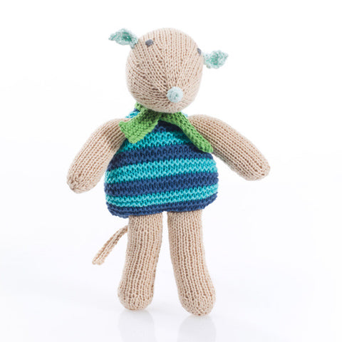 OceanoKidz.com - Pebble Mouse Rattle - Blue