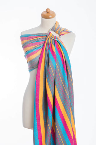 OceanoKidz.com - LennyLamb Ring Sling - Little Herringbone Daylights (Herringbone Weave 100% Cotton)