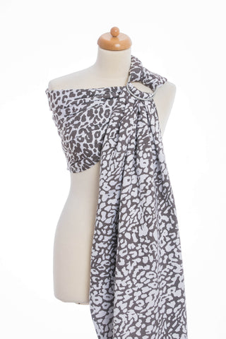 OceanoKidz.com - LennyLamb Ring Sling - Cheetah Dark Brown & White (Jacquard Weave 100% Cotton)