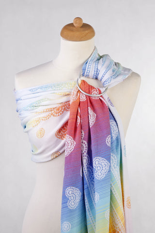LennyLamb Ring Sling - Rainbow Lace Reverse (Jacquard Weave 100% Cotton)