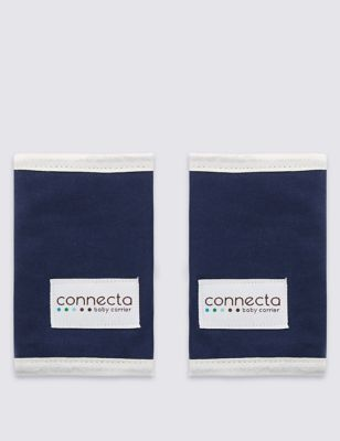 Connecta Organic Cotton Drool Pads - Navy