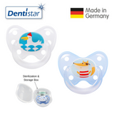 OceanoKidz.com - Dentistar Tooth-friendly Pacifier Size 3 (set of 2) with Sterilization Box - Seagull & Fox