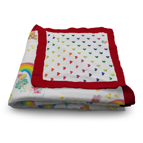 OceanoKidz.com - Kanga Care x Care Bears :: Birthday Party - Serene Reversible Blanket :: Watercolor Rainbow *Limited Edition*