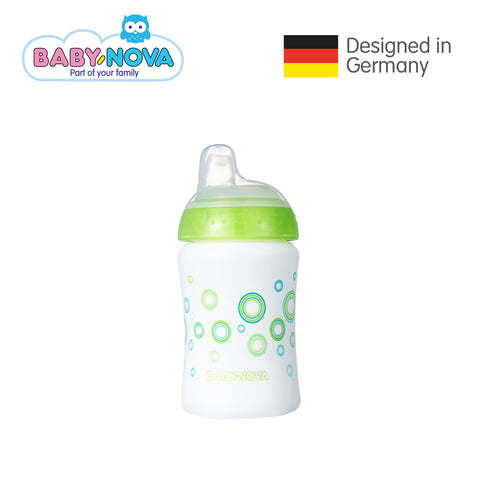 Baby Nova Non-Spill Cup 285 ml in White/Green (6+ months)