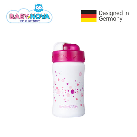Baby Nova Straw Cup 340 ml in White/Magenta (6+ months)