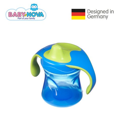 OceanoKidz.com - Baby Nova Trainer Cup 220 ml in Green/Yellow (6+ months)