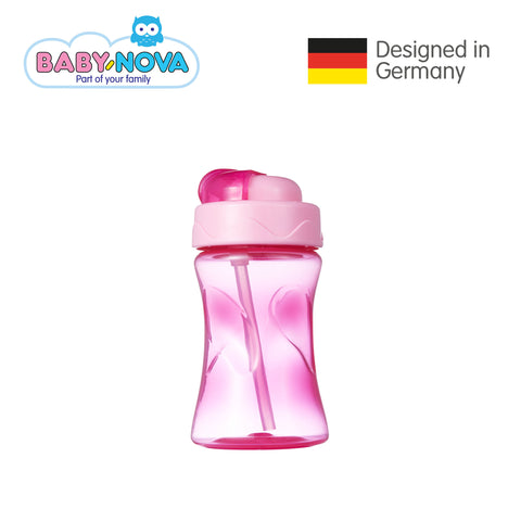 Baby Nova Straw Cup 300 ml in Pink (6+ months)