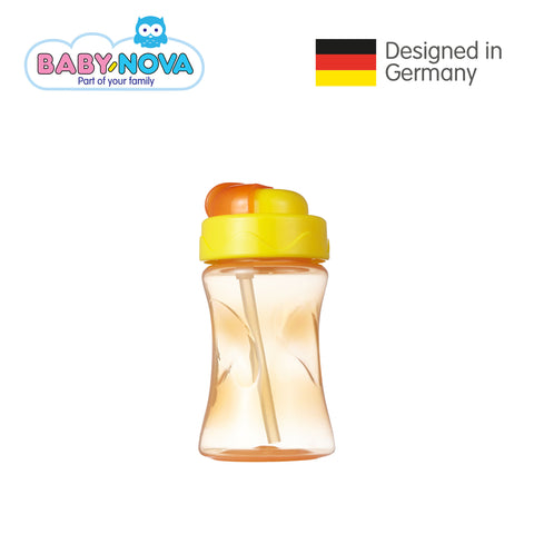 Baby Nova Straw Cup 300 ml in Orange (6+ months)