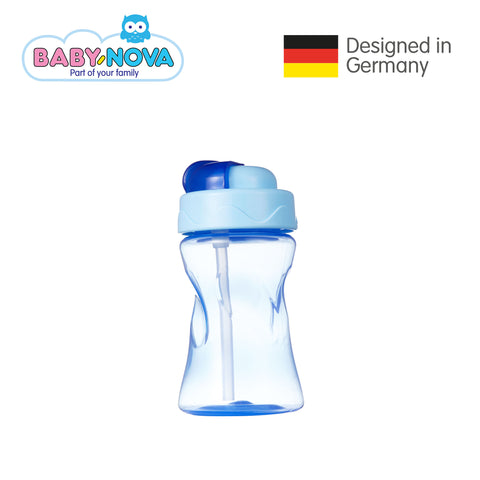 Baby Nova Straw Cup 300 ml in Blue (6+ months)