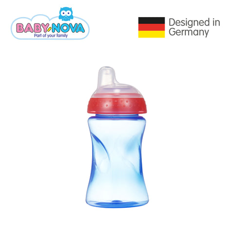 Baby Nova Non-Spill Cup 300 ml in Blue/Red (6+ months)