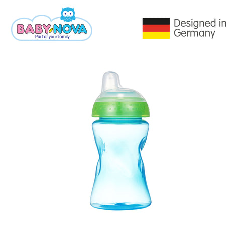 Baby Nova Non-Spill Cup 300 ml in Light Blue/Green (6+ months)
