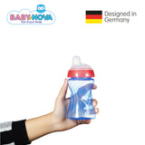 OceanoKidz.com - Baby Nova Non-Spill Cup 300 ml in Blue/Red (6+ months)