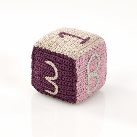 OceanoKidz.com - Pebble Toy Block - Organic Pink