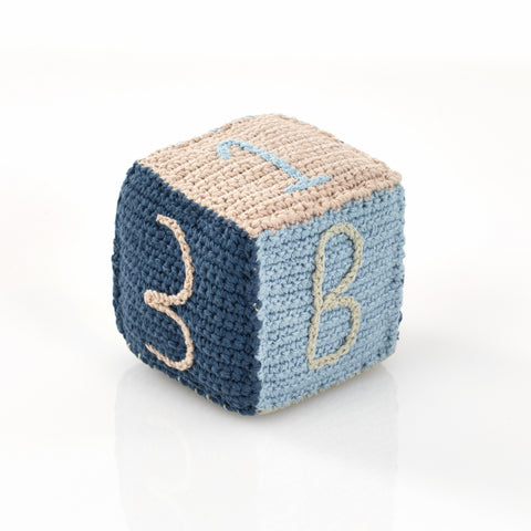 Pebble Toy Block - Organic Blue