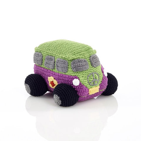 Pebble Crochet Campervan - Mulberry