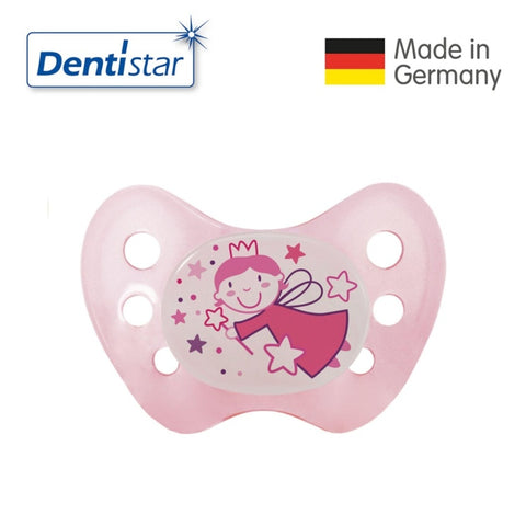 OceanoKidz.com - Dentistar Tooth-friendly Night Pacifier (0-6 months) size 1 without ring - Fairy [No protective cap]