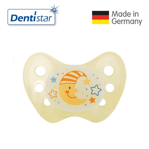 OceanoKidz.com - Dentistar Tooth-friendly Night Pacifier (6-14 months) size 2 without ring - Moon [No protective cap]